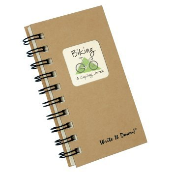 Bicycle Journal - Biking, The Bikers Journal - MINI Kraft Hard Cover (prompts on every page, recycled paper, read more...)