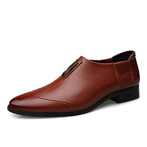 Classico Casual Scarpe a Business da con Semplice Cravatta Punta Casual Classico Uomo Marrone Oxford da Stile Cricket IHxAqxB