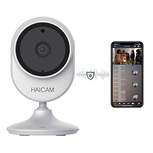 Haicam End-to-End Encrypted Time-Lapse Cloud IP Camera 1080p Wide View Angle(145 °) Indoor,White (E22),Free Two Years Cloud Storage,Home Security Camera Baby Pet Monitor, Amazon/Apple/Google TV Apps