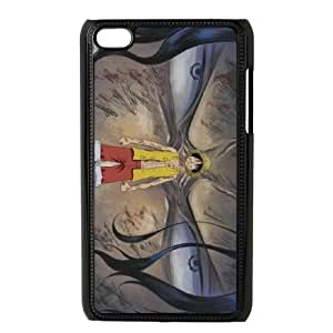Luffy Anime funda iPod Touch 4 caja funda del teléfono celular negro cubierta de la caja funda EEECBCAAJ15476