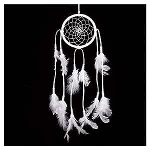 Dream Catcher White Handmade Traditional Circular Net Home Decor Wall Car Hanging Ornament Gift