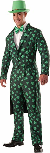 St Patricks Day Suit (Forum Novelties Men's Shamrock Costume Formal Suit, Green, Standard)