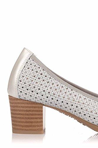 Plateado Zapato Zapato Salón Pitillos Salón Plateado Zapato Pitillos Plateado Salón Pitillos FWIW718n