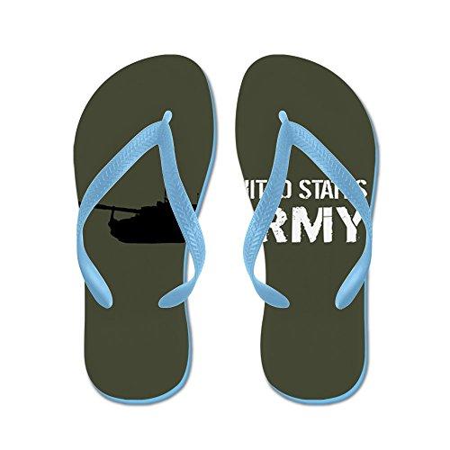CafePress U.S. Army: M109A6 Paladin Artillery sys - Flip Flops, Funny Thong Sandals, Beach Sandals Caribbean Blue