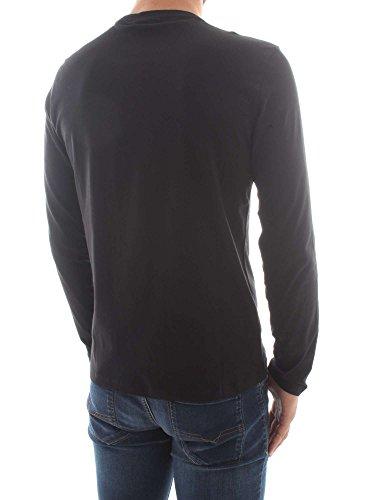 Homme Parfait T Shirt Logo Cou Noir Calvin Klein Longues Manches qfv8Sxw