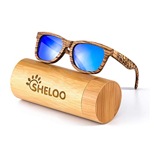 Bamboo Wood Polarized Sunglasses For Men&Women Retro Style 100% UV400 (017)