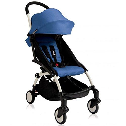BabyZen 2016 Yoyo+ Stroller Bundle – White Frame + Color Pack (Blue) For Sale
