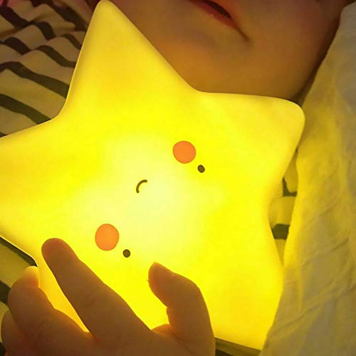 Amazon Black Sales Friday Cyber Sales Monday Deals&Sales- Cute Night Light for Kids,Led Baby Nursery Bedroom Lamp Bedside Mood Sleep Nightlight Sun Moon Cloud Star Fanny Toy Gift for Children (Star) (Best Cyber Monday Deals)
