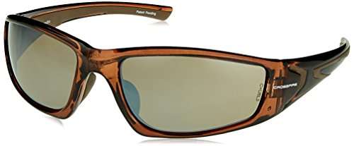 Crossfire 23117 RPG Safety Glasses HD Brown Flash Mirror Lens - Crystal Brown Frame - Frame Brown Mirror Lenses