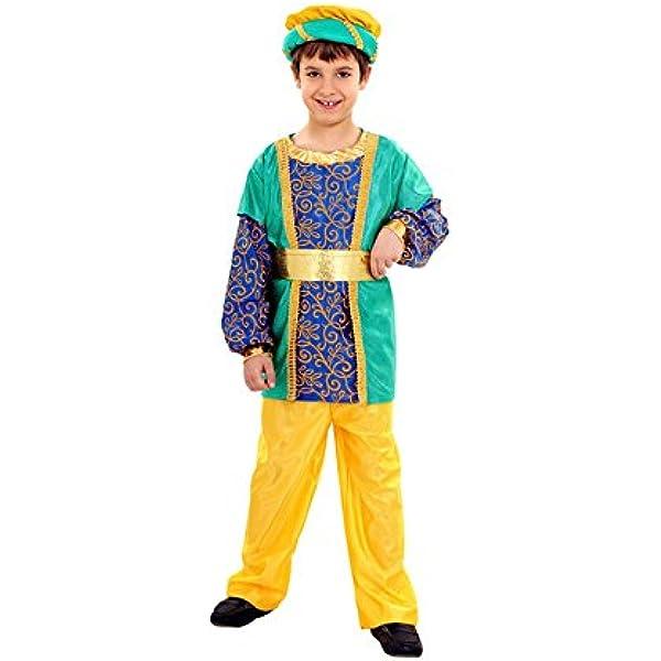 Disfraz de Paje del Rey Gaspar de niños: Amazon.es: Juguetes y juegos