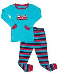 Kids   Toddler Pajamas Garbage Truck Train Boys 2 Piece Pjs Set 100% Cotton  ( dae38c6a7