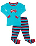 Leveret Fire Truck 2 Piece Pajama Set 100% Cotton 14 Years