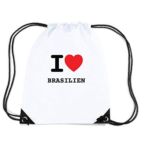 JOllify BRASILIEN Turnbeutel Tasche GYM4611 Design: I love - Ich liebe H7Zk1
