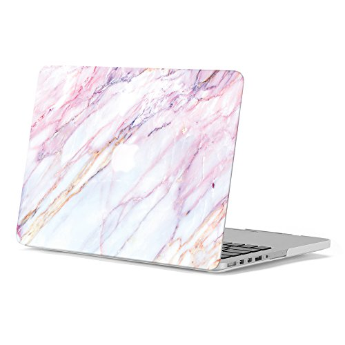 GMYLE 2 in 1 Bundle Pink Marble Soft-Touch Plastic Hard Case for Old MacBook Pro 13 Inch with Retina Display (Model: A1502/A1425) & Water Resistant Protective Laptop Bag Sleeve with Handle,Pink by GMYLE (Image #8)