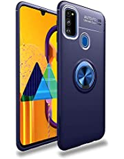 Lenuo Samsung Galaxy M31 Case, Ring Holder Magnetic, Dark Blue