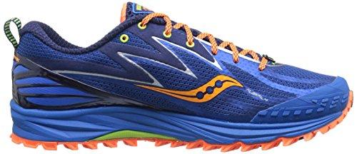 Saucony Men's Peregrine 5 Running Shoe, Blue/Orange, 12 M US
