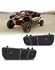 CAN AM Maverick x3 Accessories: ZIDIYORUO Maverick x3 Door Bags, Front Door Storage Bag for Can Am Maverick X3 Max, XRS Turbo, with Removable Knee Pad, Sold by a Pair