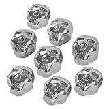 8x Stainless Steel Skull Shaped Whiskey Rock Stones Reusable Ice Cubes with Tong