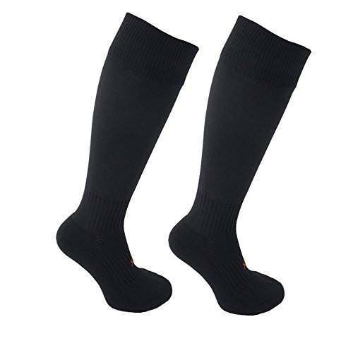 STAY UP Kid's Sports Socks 2 Pairs with Stay On Technology – Twin Pack – Black – DiZiSports Store