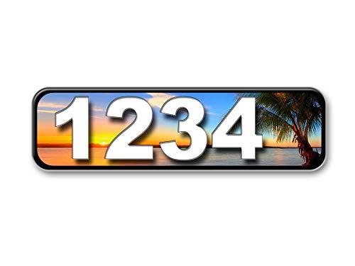 Paradise Plaque - Paradise Curb Address Plaque, Reflective