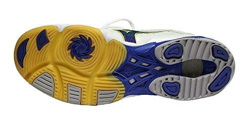 Mizuno , Damen Volleyballschuhe weiß White/Blue/Yellow