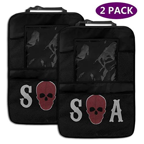Sons Of Anarchy Pet Accessories (Sons of Anarchy Season Car Seat Organizer with Touch Screen Tablet Holder Auto Travel Accessories for Kids and)