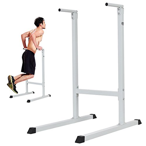 Goplus Dipping Station Heavy Duty Dip Stand Pull Push Up Parallel Bar Fitness for Bicep Tricep Exercise Workout in Home & Gym