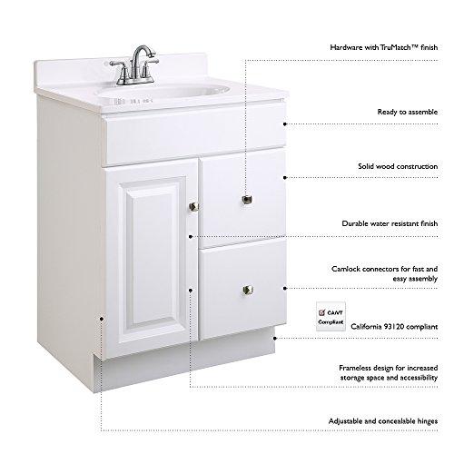 41Z8qLczKXL - Design House 531970 18-Inch by 16.25-Inch Claremont Ready-To-Assemble 1 Door Vanity, Honey Oak