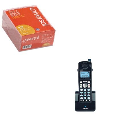 KITRCAH5401RE1UNV48023 - Value Kit - RCA ViSYS Four-Line Accessory Handset (RCAH5401RE1) and Universal Important Message Pink Pads (UNV48023)