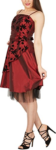 Essence Robe Blackbutterfly Bal Bordeaux Satin De 'sia' PuOkZiTX
