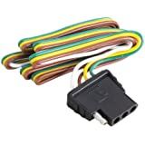 amazon com attwood trailer wiring 4 way flat harness connector attwood trailer wiring 4 way flat harness connector 18 inch plug 48