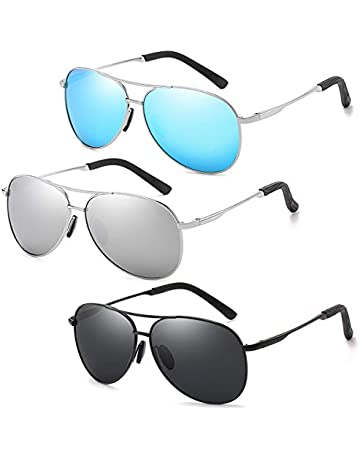 2abe302da177 Polarized Classic Aviator Sunglasses for Men and Women 100% UV protection  shades Mirrored Lens Metal
