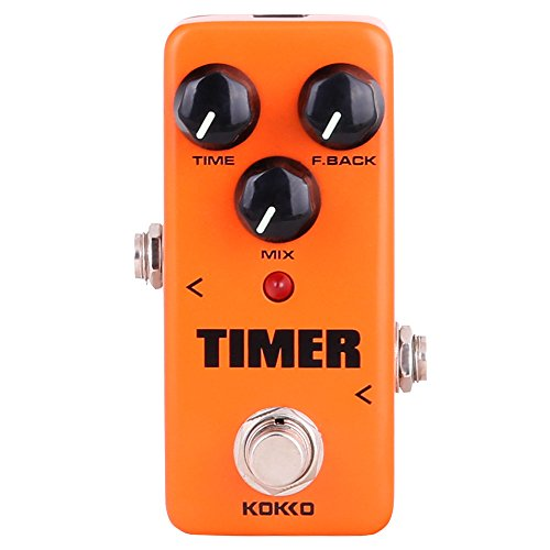 Guitar Mini Effects Pedal Timer - Digital Delay Effect Sound Processor Portable Accessory for Guitar and Bass, Exclude Power Adapter - FDD2