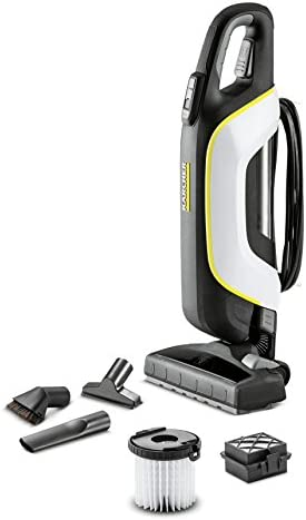 Kärcher VC 5 Premium Sin bolsa Negro, Blanco 500 W - Aspiradora escoba (Sin bolsa, Negro, Blanco, Secar, Alfombra, Suelo duro, 77 dB, 9 m): Amazon.es: Hogar