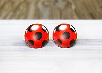 Amazon.com: Ladybug Charm Ladybug - Pendientes de mariquita ...