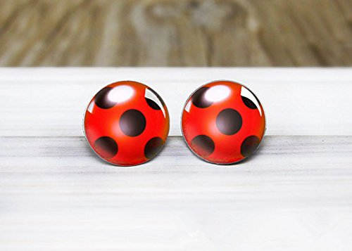 Ladybug Charm Ladybug Earrings Ladybird Design Bug Earrings Ladybird Earrings Silver Bug Earrings Ladybird Jewellery Ladybug -