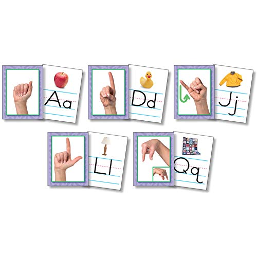 North Star Teacher Resource NST9082 American Sign Language Alphabet Cards, Set of - Manual Sign American Alphabet