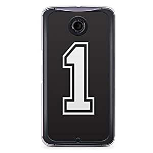 No. 1 Nexus 6 Transparent Edge Case - Numbers Collection