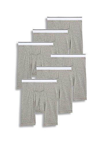 Jockey Men's Underwear Pouch Midway Brief - 6 Pack, Grey Heather, L