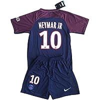 Neymar Jr #10 PSG 2017-2018 Youths Home Soccer Jersey &...