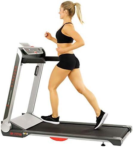 Sunny Health Fitness Motorized Folding Running Treadmill