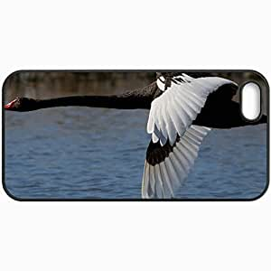 Customized Cellphone Case Back Cover For Case For HTC One M7 Cover , Protective Hardshell Case Personalized Swan Black