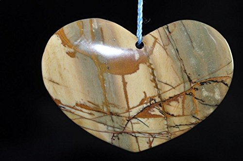 • Bella-gems • 36x50x8mm Gorgeous~RED CHERRY CREEK JASPER X-Large Heart Focal Pendant - I1004 (Jasper Red Creek)