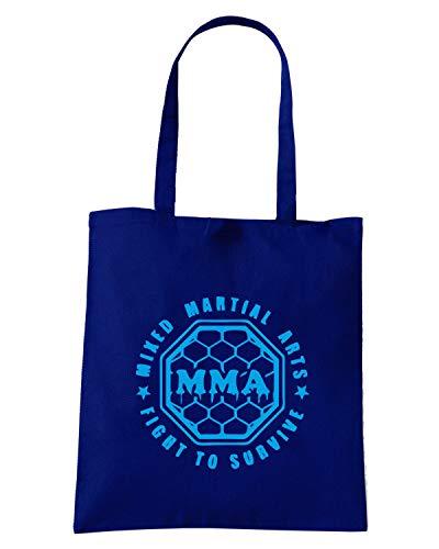 TBOXE0055 MMA Blu Navy FIGHT Shirt ARTS Borsa MARTIAL MIXED Speed Shopper TOURVIVE XwqB41F