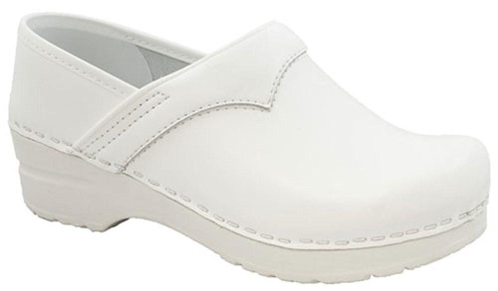 Weiß (Weiß 01) Sanita Work Wear Pu-Clog schwarz