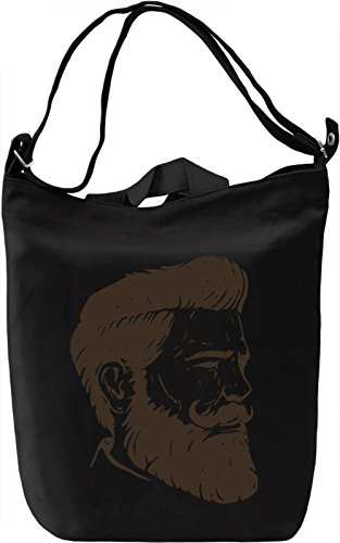Beard man Borsa Giornaliera Canvas Canvas Day Bag| 100% Premium Cotton Canvas| DTG Printing|