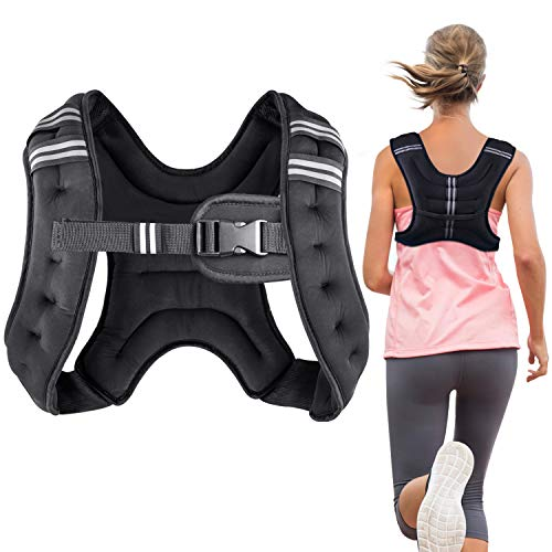 Henkelion Running Weight Vest for Men Women Kids Weights Included, Body Weight Vests for Training Workout, Jogging, Cardio, Walking, Elite Adjustable Weighted Vest Workout Equipment - 8 Lbs (Best Weighted Vest Exercises)
