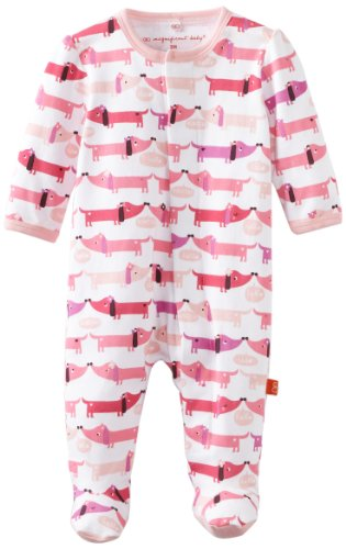 Magnificent Baby Baby-Girls Footie,Pink Hot Dog,0-3 ()