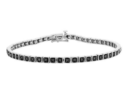 (1/2 Carat (ctw Clarity I2-I3) Black Diamond Bracelet in Sterling Silver)
