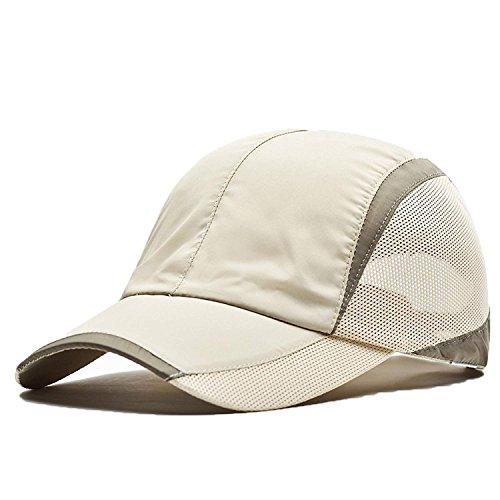 FayTop Unisex Quick Dry Baseball Sun Hat Sun Cap Outdoor Sports Baseball Caps V61b007-khaki-New